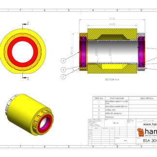 Hambini BSA 30mm BB30 Bottom Bracket